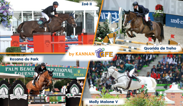 Zoé II, Quorida de Treho, Molly Malone V, Rosana du Park @ Kenneth KRAUS, Claire Simler/Webstallions, PSV Morel, Starting Gate Communications